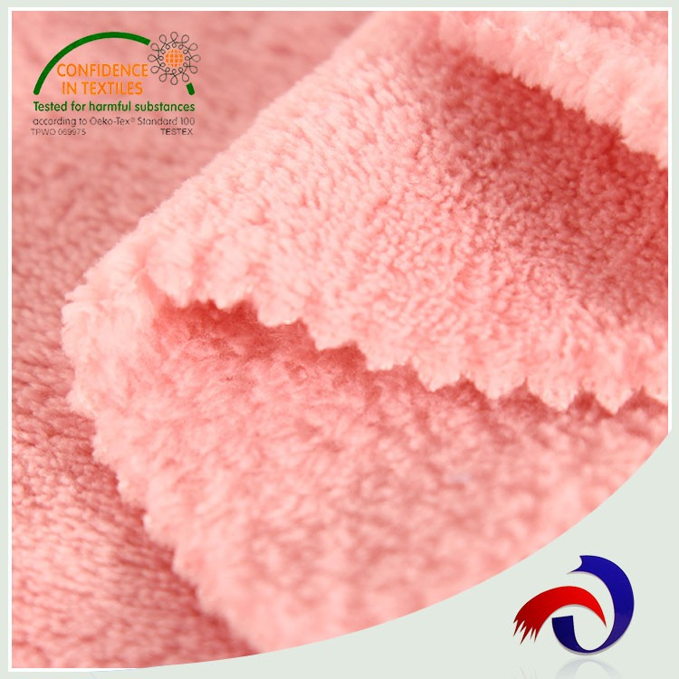 Multifunctional knitted 100 polyester super soft touch velvet fabric ice stock