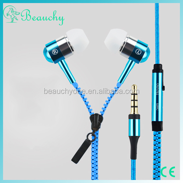 New products free <strong>samples</strong> mobile sport bests headphones, zipper earphone for smart phone