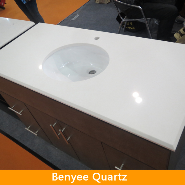 Beveledl edge polished artificial stone vanity top