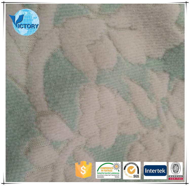 2016 China Popular 100% Polyester Jacquard Velvet Uphostery Fabric