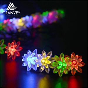 LED Christmas light 6m 30 led 0.15m lamp space Lotus Flowers shaped decoration pathway light led patio string lights