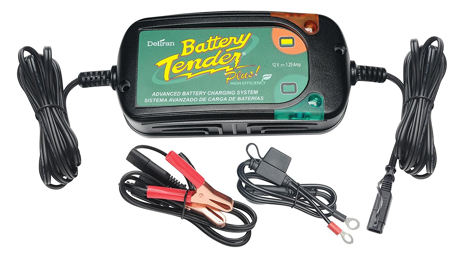 BATTERY TENDER 022-0185G-DL-WH 12-Volt 1.25-Amp Battery Tender(R) Plus High Efficiency