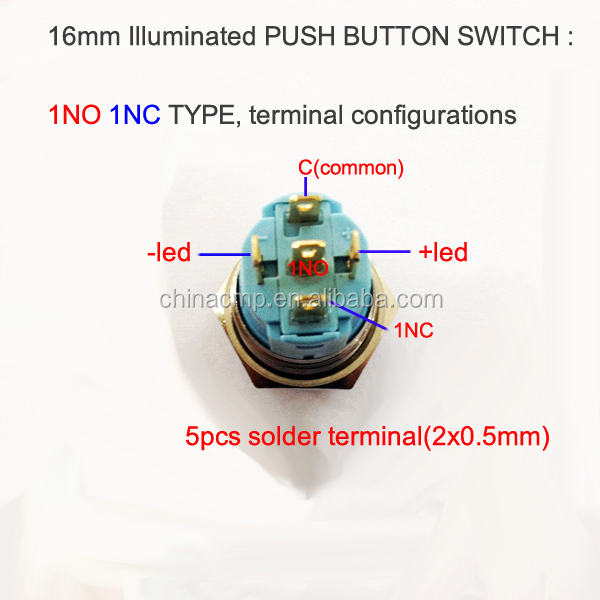 16mm push on push off switch 12v led push button. Black Bedroom Furniture Sets. Home Design Ideas