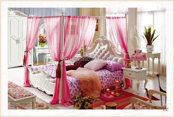 Design Slaapkamer Meubilair : Roze prinses bed met een modern mooi design in de slaapkamer