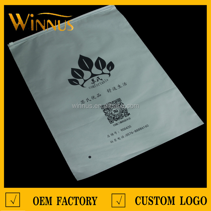 cheap logo print ziplock style t-shirt apparel tshirt clothing packaging plastic bag with zipper