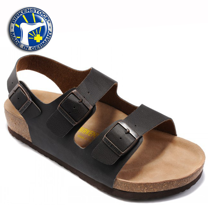 e16b3f18892a Get Quotations · 2015 free shipping Birkenstock Sandals Genuine Leather  Birkenstock Milano sandals Men cheap Casual EVA sandals with