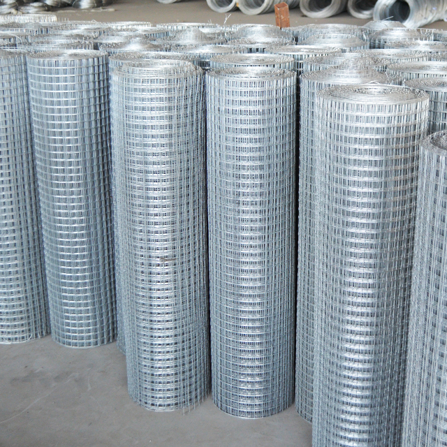 hot sale 2*2 Galvanized Square Hole Welded Wire Mesh roll/electro galvanized welded wire (ISO9001)