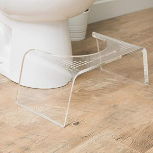 "Squatty Ghost Acrylic Toilet Stool 7"" Bathroom Acrylic Stool"