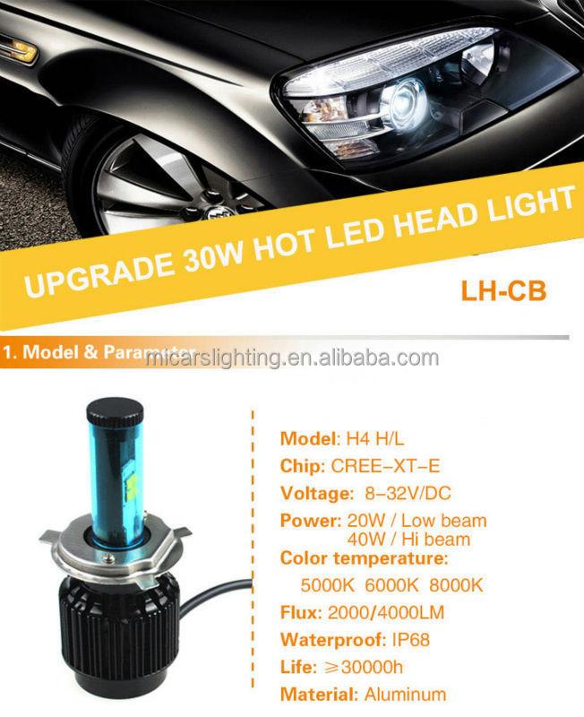 High Quality High Power H4 40w 4000lm Led Headlight Bulb Car Led ...