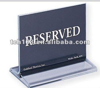 Amazon.com: Reserved Table Signs 4.75x1.75 - 6 Pack: Home ...  |Reserved Table Sign Holder