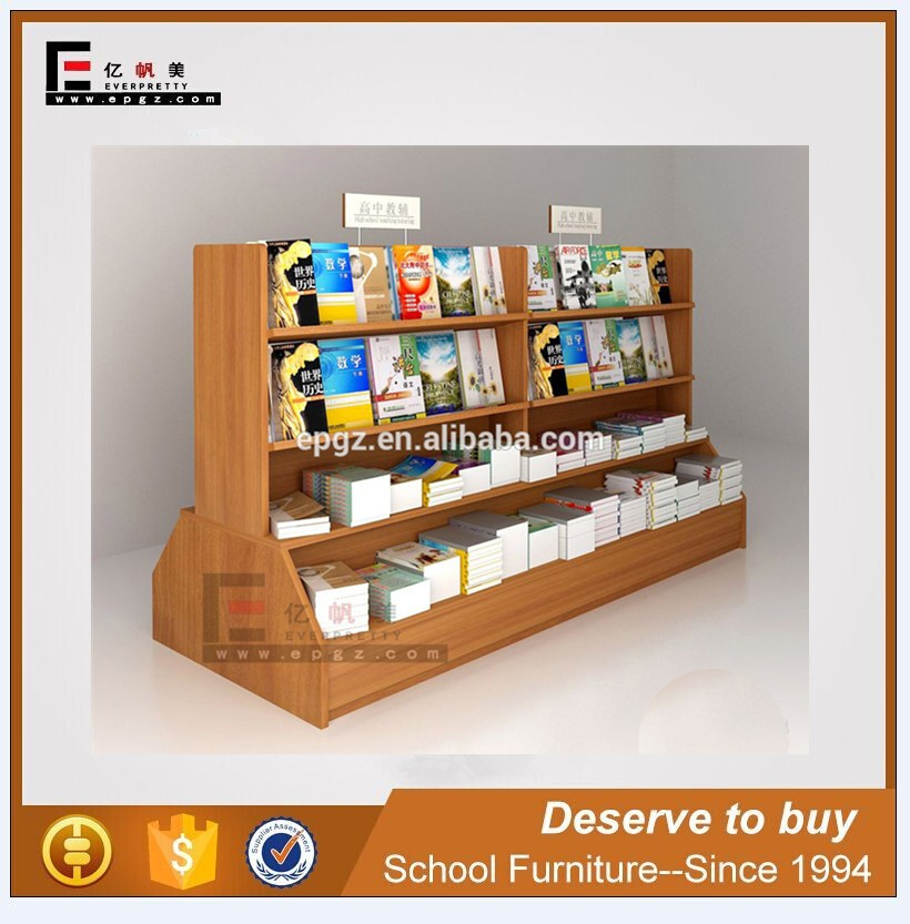 Wooden Book Shop Bookself Furniture, Low Price Portable