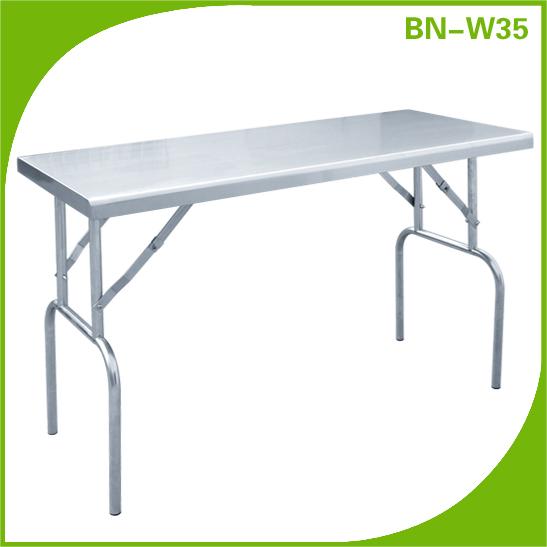 plegable de acero inoxidable mesa de la cocina-Mesas plegables ...