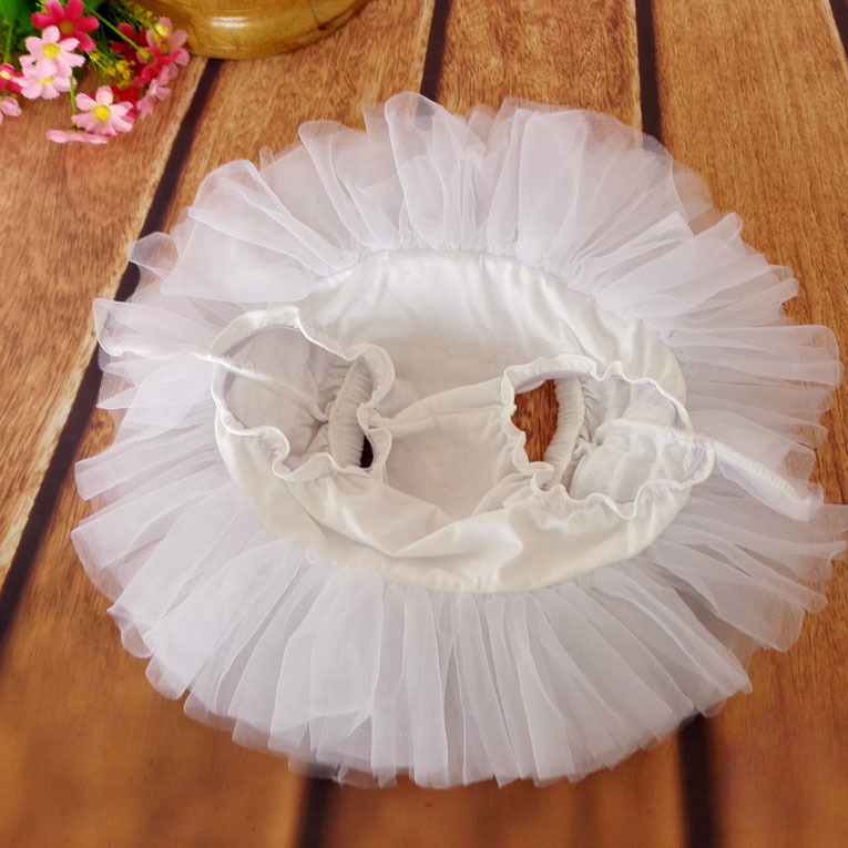 New design custom baby girls fluffy short white princess santa tutu skirt for kids