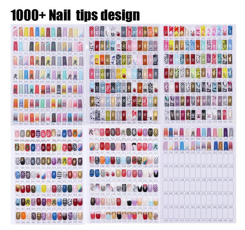 Artificial Finger Nails Designed Fake Nail Art /abs Fake Nails For ...