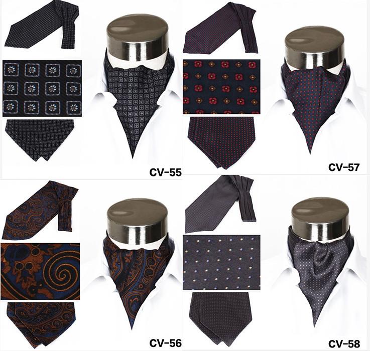 Great Material Fashion Cravat Tie Men Silk Ascot Cravats Buy