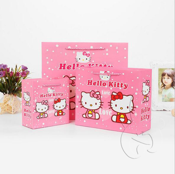 d72d806fa3 Custom Made Pink Hello Kitty Paper Bags With Handle