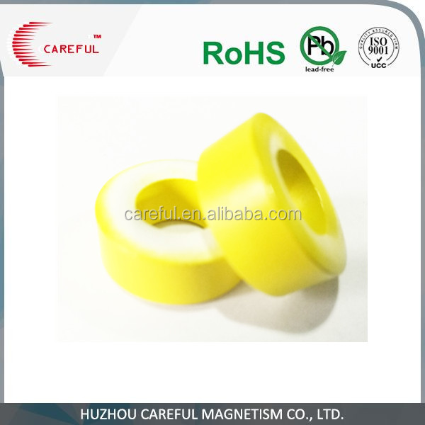 Transformer yellow white soft iron ring core used for inductor