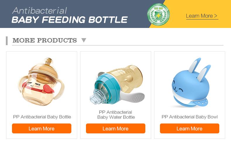Bib pants borosilicate glass baby bottle breast milk storage bottle