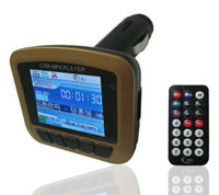 LCD Wireless Car 12V MP4 MP3 Player FM Transmitter SD MMC USB