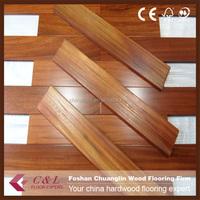 China Manufacturer Cheap Prefinished iroko hardwood flooring