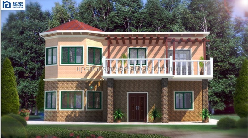 Four Bedroom Deluxe Double Deck prefabricated cement house