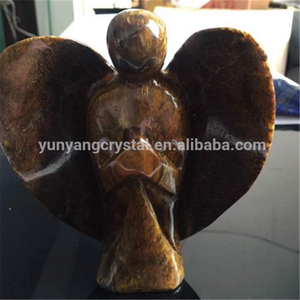 wholesale hot sale natural quartz hand carved crystal angel figurine