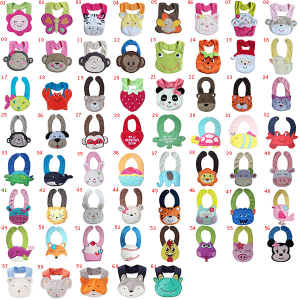 Kids Girl Boy Baby Bib Animals Cotton Saliva Towel Waterproof Infant Lunch Bibs