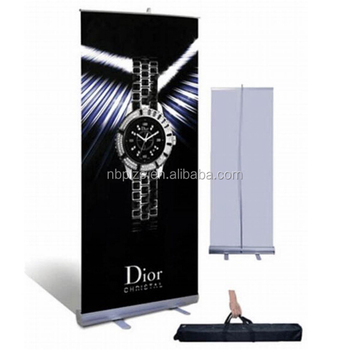 Single side economical roll up stand aluminum alloy banner 80x200 advertising display