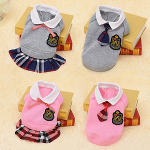 School Style Pet Dog Clothes Cat Clothing Dress Pugs Puppy Coat Outfit For Small Dog Clothes