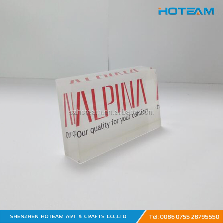 Clear Solid 75 degree Acrylic Logo Block