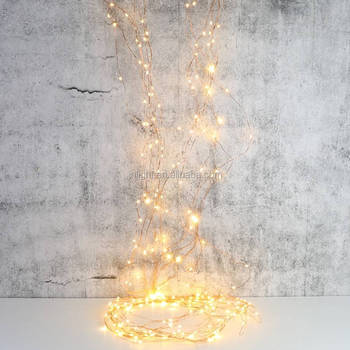 Mains Powered Copper Wire Waterfall String Lights Christmas ...