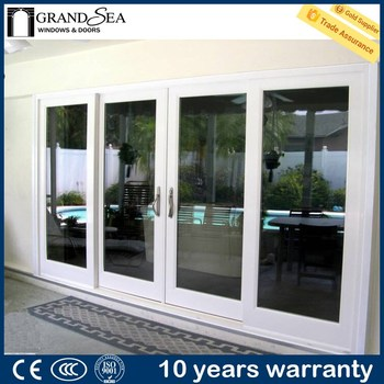 Europian Style Heavy Duty Aluminium Door Patio Sliding Screen Door  Titanium Aluminum Doors