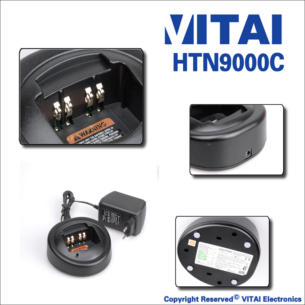 Vitai HTN9000C walkie talkie charger desktop untuk GP328 GP338 GP340 radio