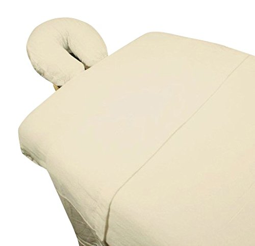 High Quality - 3pc Microfiber Massage Table Sheet Set - Ivory - Exclusively by Blowout Bedding RN# 142035