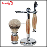 badger hair Brush and shaving Razor shaving kits ,Men Brush gift shaving set