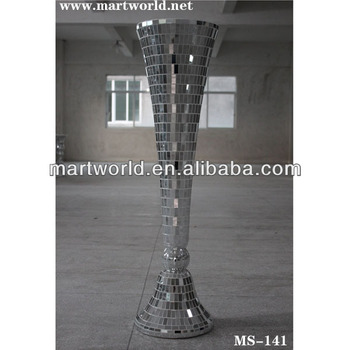 2017 new design roman columns pillars decorative silver wedding pillar for wedding aislems