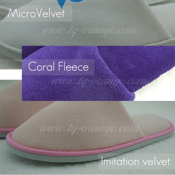 High Quality Chinese Pleuche Hotel Slippers With Logo