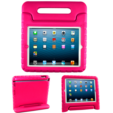Cover for iPad 5 6 7 9.7 inch tablet anti-falling eco-friendly eva handle stand kids case shell