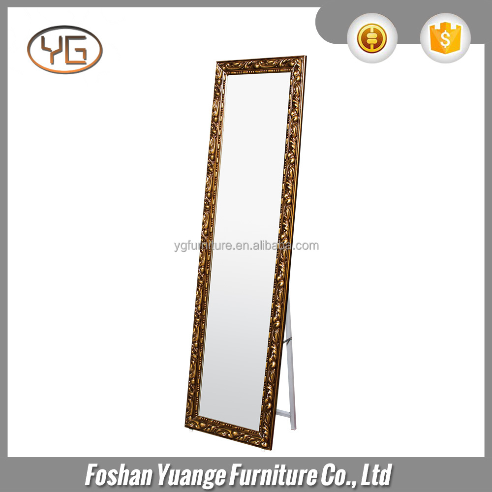 Wholesale Floor Stand Mirror Wood Finish Dressing Up Full Mirror