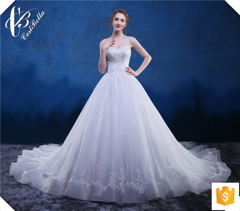 Ali-oy026 New Arrivals 2016 Ball Gown Designers Beaded Top Pearls ...