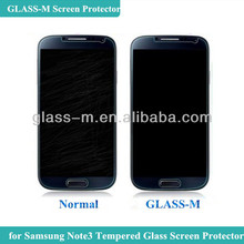 2014 New Japan Anti-glare Guard GLASS-M Mobile Phone Tempered Glass LCD Screen Shield For Samsung Galaxy Note3