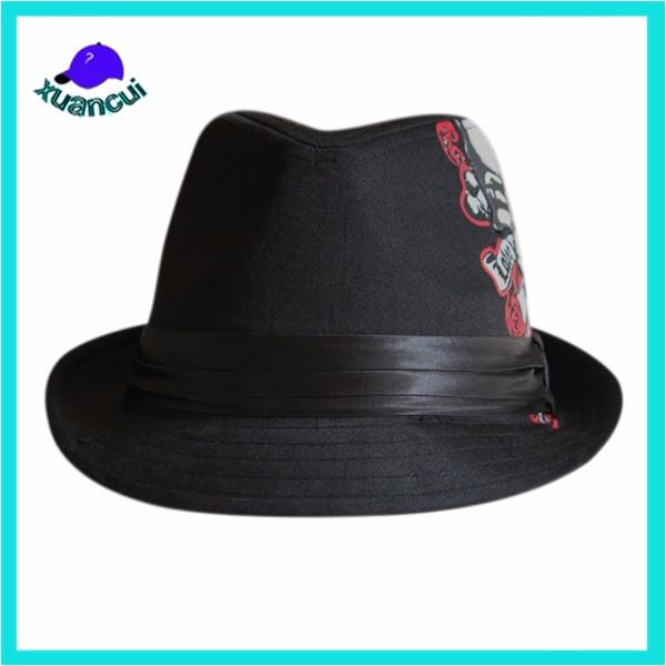 Regalo con estilo personalizado hecho logo uropen vintage Jazz sombreros  baratos decorar sombrero fedora a3f2c6e95ec