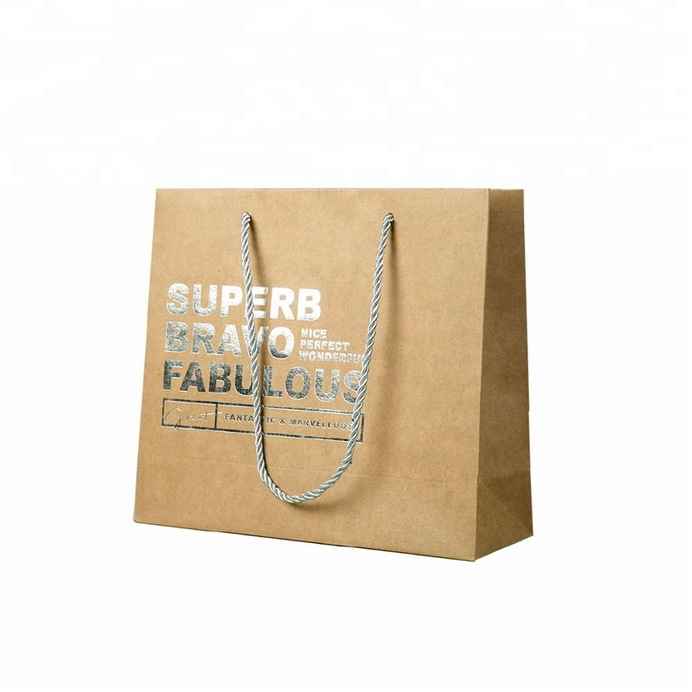 Factory manufact home collection custom recycle paper shopping bag gift paper bag