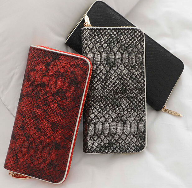 S10954A 2015 Hot selling Korean style Alligator Pattern long wallet for ladies