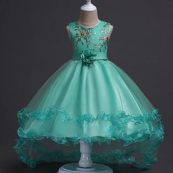 Party Wear Latest Children Dress Designs Ruffle Sleeve Gown Dress ...