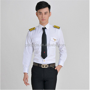 Airline Clothing Crew Outfits Pilot Uniform Shirts for Aviator Airline Clothing OEM/ODM