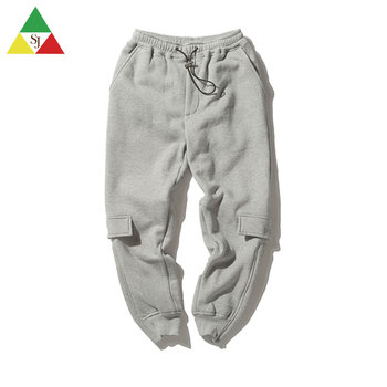 Wholesale men's hip hop long harem pants for men pockets jogging pants