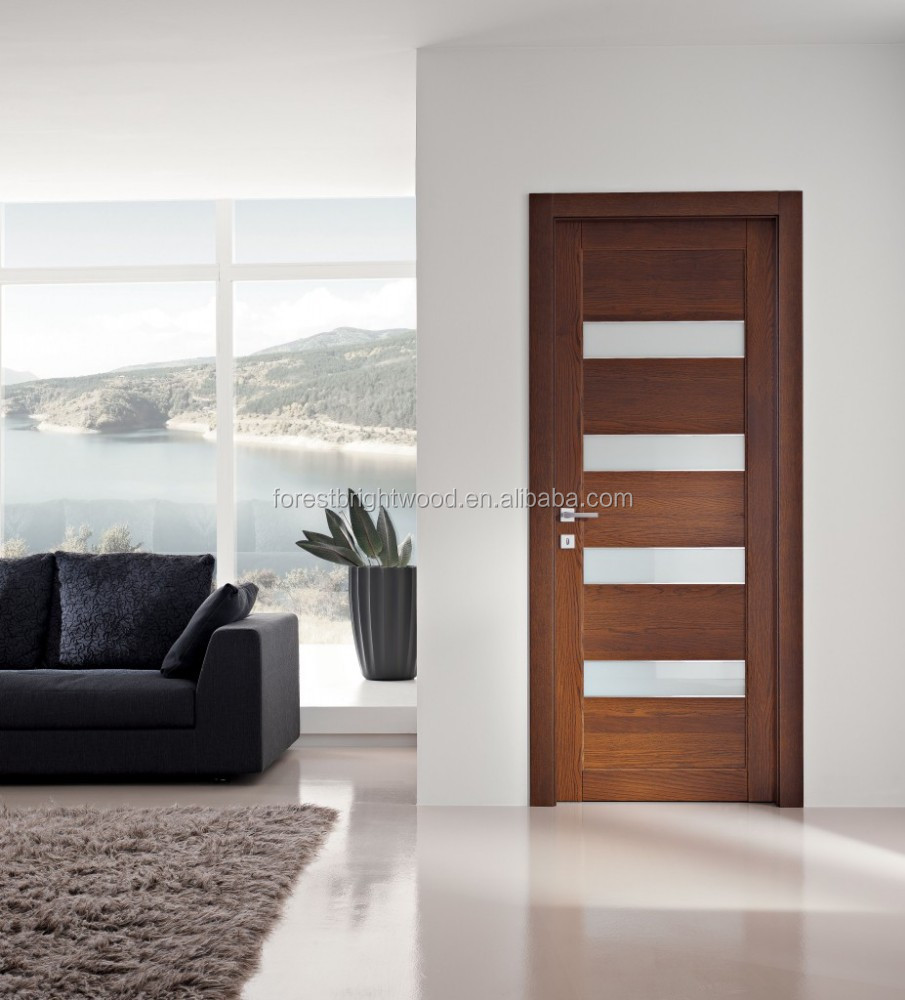 Frosted glass interior doors for bathrooms - Wooden Frosted Glass Interior Bathroom Door Design Buy Bathroom Door Design Frosted Glass Bathroom Door Interior Wood Glass Door Product On Alibaba Com