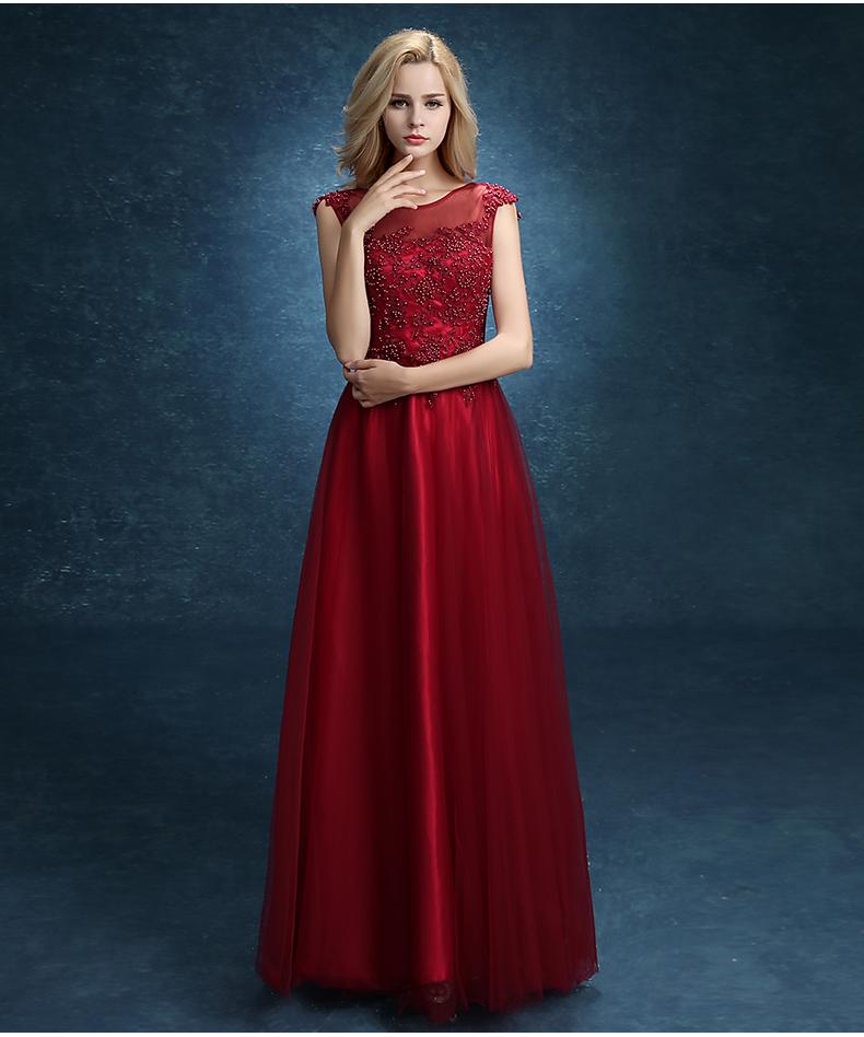 Vestidos De Noche Color Rojo Vino