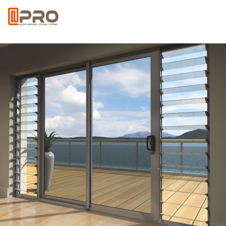 Fixed Aluminum Exterior Gl Louvered French Folding Aluminium Hinged Bathroom Louvers Sliding Door With Louver Doors For